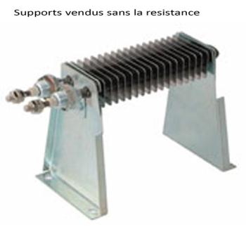 SUPPORT POUR RESISTANCE AILETTES 25X50 MM