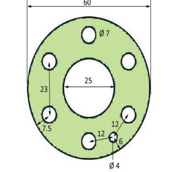 JOINT POUR APPAREIL A BUEE DIAMETRE EXTERIEUR 60 MM POUR FOUR BONGARD