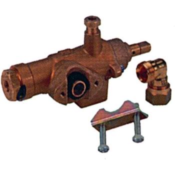 ROBINET GAZ STN3R ENTREE GAZ BRIDE TUBE ø 20 MM.