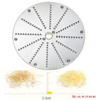 PLATEAU A RAPER INOX - 2 MM - DITO SAMA - pour coupe-légumes TRK - TRS - TR210