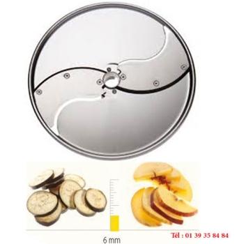 PLATEAU TRANCHEUR INOX - 6 MM - DITO SAMA - pour coupe-légumes TRK - TRS - TR210