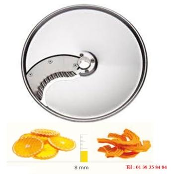 PLATEAU COUTEAUX ONDULES INOX - 8 MM - DITO SAMA - pour coupe-légumes TRK - TRS - TR210
