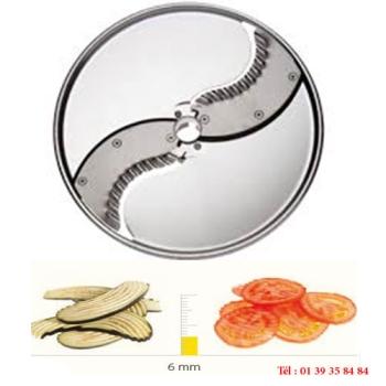 PLATEAU COUTEAUX ONDULES INOX - 6 MM - DITO SAMA - pour coupe-légumes TRK - TRS - TR210