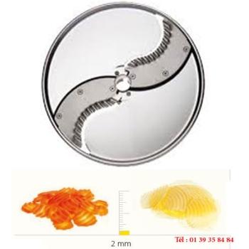 PLATEAU COUTEAUX ONDULES INOX - 2 MM - DITO SAMA - pour coupe-légumes TRK - TRS - TR210