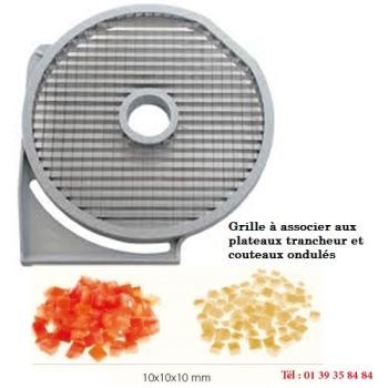 GRILLE MACEDOINE - 10x10 MM - DITO SAMA - pour coupe-légumes TRK - TRS - TR210