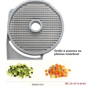 GRILLE MACEDOINE - 8x8 MM - DITO SAMA - pour coupe-légumes TRK - TRS - TR210