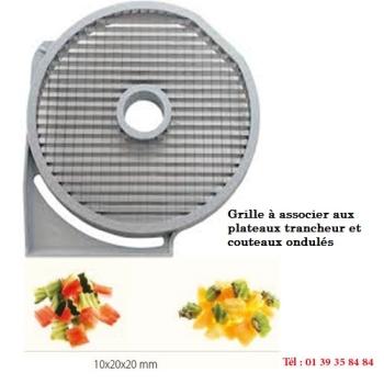 GRILLE MACEDOINE - 20x20 MM - DITO SAMA - pour coupe-légumes TRK - TRS - TR210