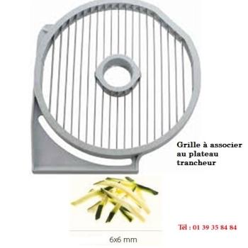 GRILLE FRITES - 6x6 MM - DITO SAMA - pour coupe-légumes TRK - TRS - TR210