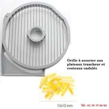 GRILLE FRITES - 10x10 MM - DITO SAMA - pour coupe-légumes TRK - TRS - TR210