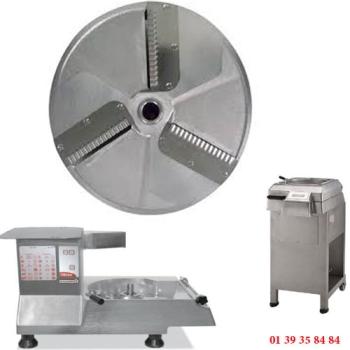 PLATEAU COUTEAUX ONDULES INOX - 3 MM - DITO SAMA - pour coupe-légumes TR260 et TR300
