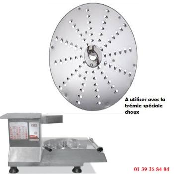 PLATEAU A RAPER CHOUX - 7 MM - DITO SAMA - pour coupe-légumes TR260