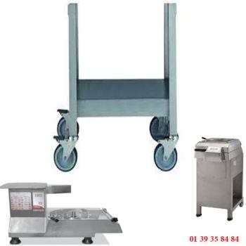 TABLE INOX ROULANTE - DITO SAMA - pour coupe-légumes TR260 et TR300