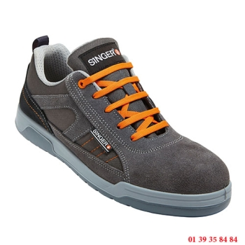 CHAUSSURE DE PROTECTION BASSE - SINGER SAFETY - Gris/orange