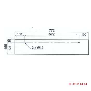 VITRE DE FOUR 2 PERCAGES - Pour four COMPAGNON C 750 ancien