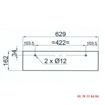 VITRE DE FOUR 2 PERCAGES - Pour four COMPAGNON C 1200