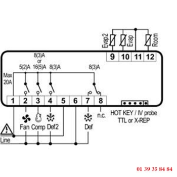 REGULATEUR DIGITAL  - DIXELL - XR64CX-5N0C0