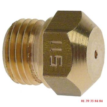 INJECTEUR GAZ - BERTOS - Ø trou 1.15 mm