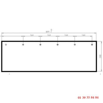 VITRE CLAIRE - EUROFOURS - 899x285 mm
