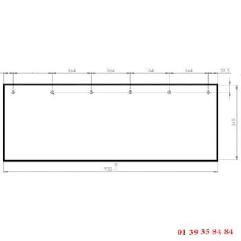 VITRE CLAIRE - EUROFOURS - 899x315 mm
